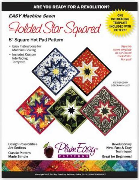 Folded Star Hot Pad pattern available in Canada at the Quilt Store