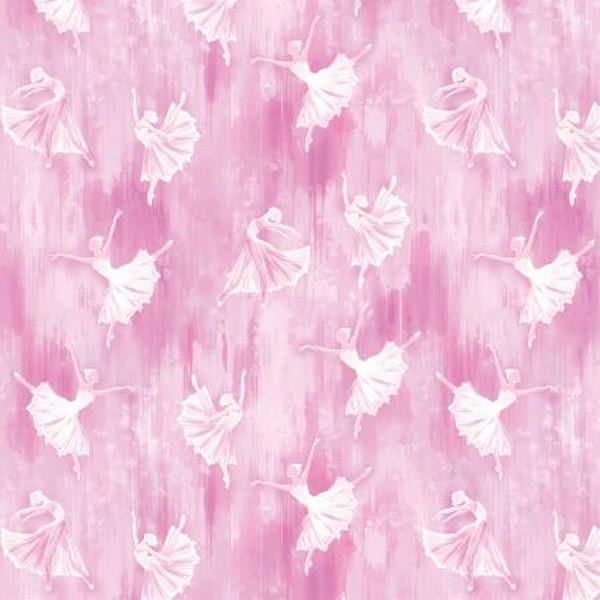 Ballerina Silhouette Pink by Kanvas Studio at The Quilt Store