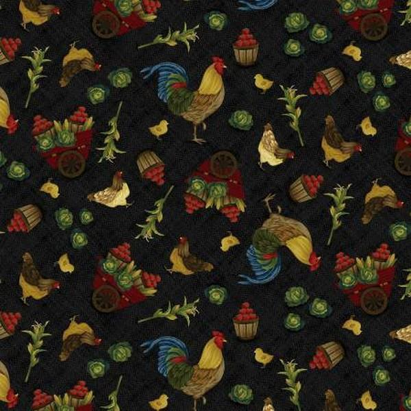 Farm to Table Roosters by Jan Mott for Henry Glass & Co. available in Canada at The Quilt Store