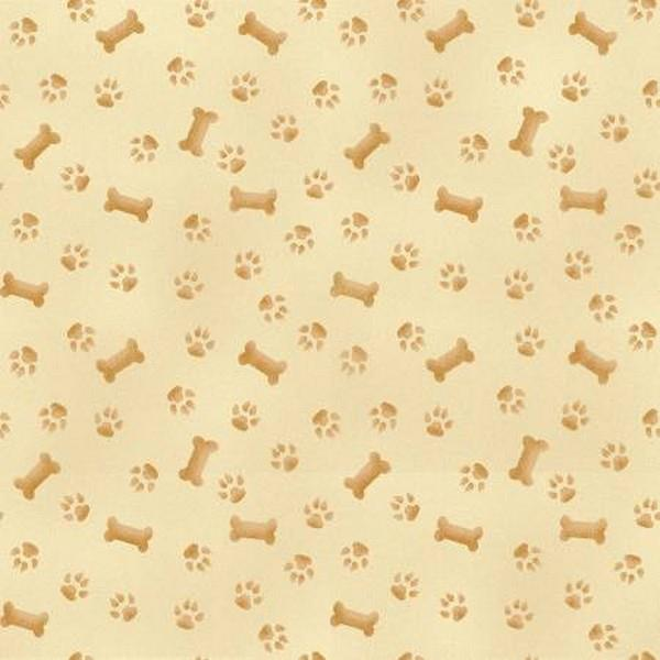 Pups in The Garden Paws and Bones available in Canada at The Quilt Store