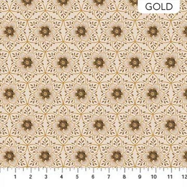 Kensington Park Gold Medallion by Deborah Edwards for Northcott Studios available in Canada at The Quilt Store
