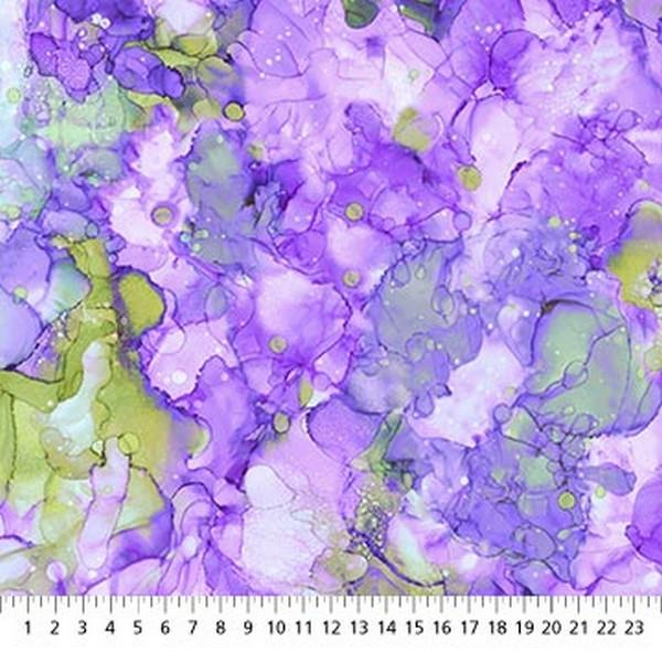 Bliss Bold & Bright Purple & Lime Green by Northcott Studios available in Canada at The Quilt Store