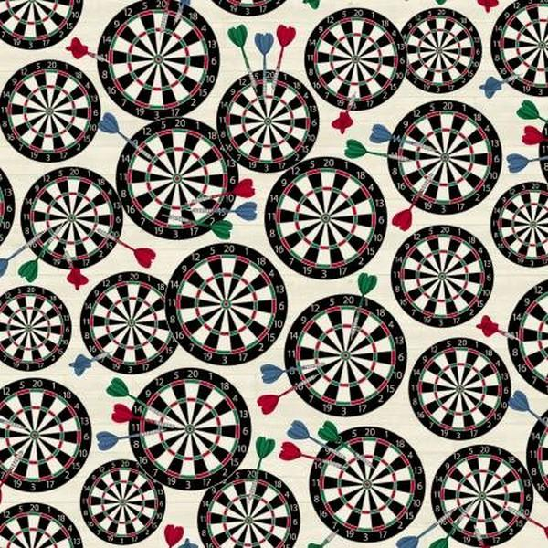 Man Cave Dart Boards by Windham Fabrics available in Canada at The Quilt Store