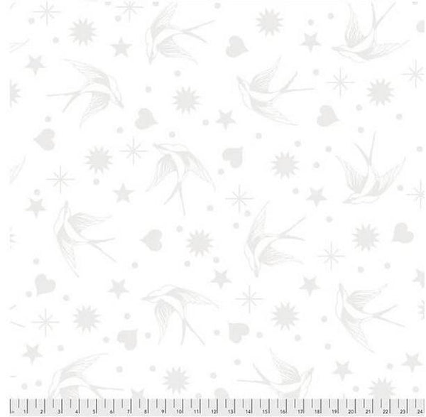 Linework Fairy Flakes Paper by Tula Pink for Free Spirit available in Canada at The Quilt Store