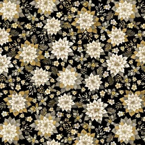 Joyous Gardens Black Neutral Wideback by Benartex available in Canada at The Quilt Store
