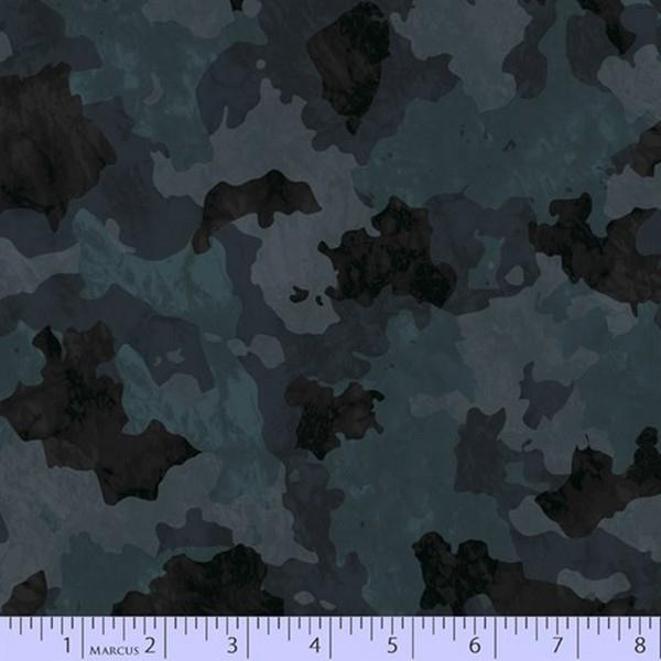 Incognito Black Camoflage by Marcus Fabrics at The Quilt Store in Canada