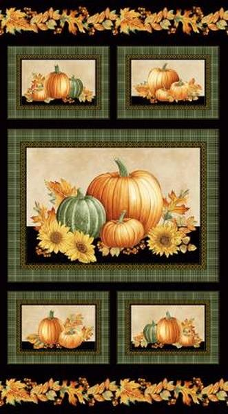 Autumn Elegance Panel by Benartex available in Canada at The Quilt Store
