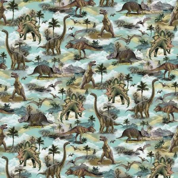 When Dinosaurs Roamed by Timeless Treasures available in Canada at The Quilt Store