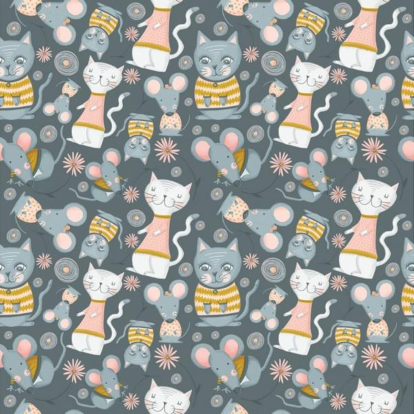 Kitty Garden Cats & Mice by The Craft Cotton Company available in Canada at The Quilt Store
