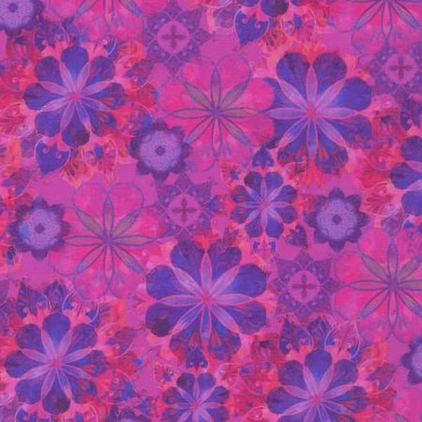Venice Amethyst Flowers by Robert Kaufman available in Canada at The Quilt Store