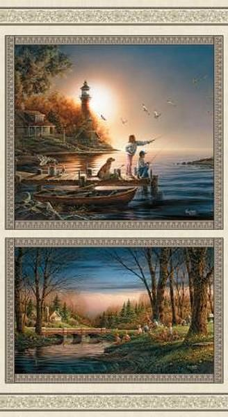 Spring Summer Panel by Terry Redlin available in Canada at The Quilt Store