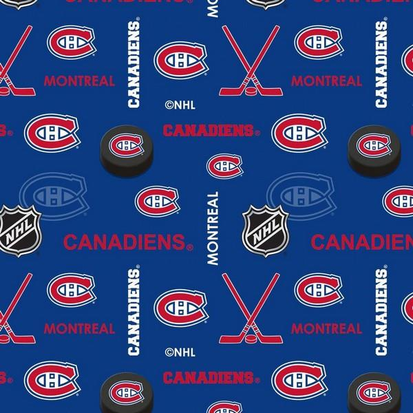 Montreal Canadians NHL Flannel available in Canada at The Quilt Store