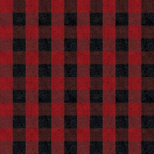 Plaid Basics Red Buflo Plaid by Riley Blake available in Canada at The Quilt Store