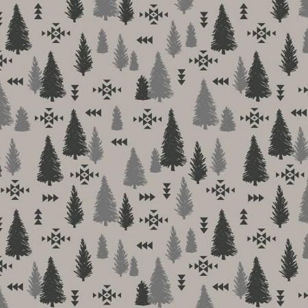 Timberland Trees Grey by Riley Blake Designs available in Canada at The Quilt Store