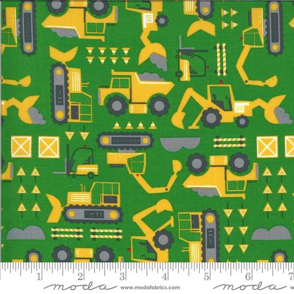 On The Go Construction Green by Stacy Iest Hsu for Moda available in Canada at The Quilt Store