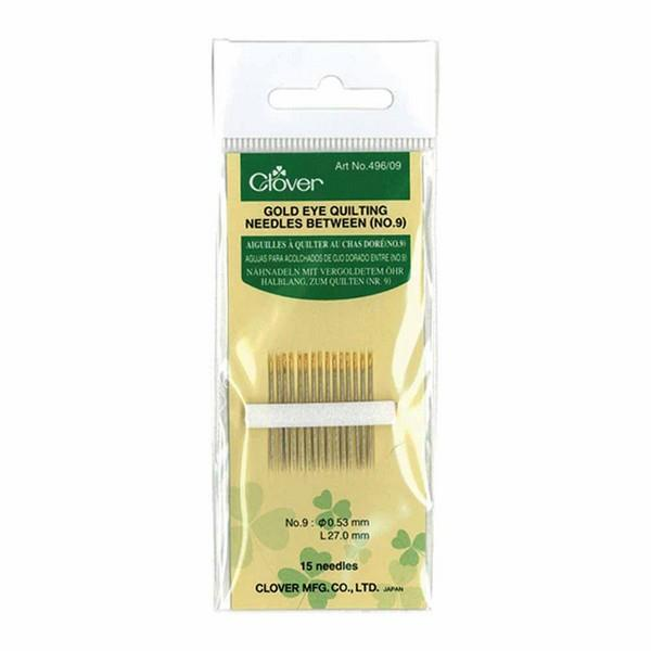 Clover Gold Eye Quilting Needles Between No. 9