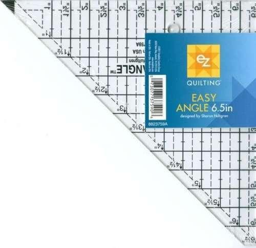 EZ Quilting Easy Angle Triangle Ruler 6 1/2""