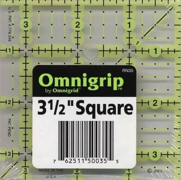 "Omnigrip 3 1/2"" Square Ruler available in Canada at The Quilt Store"