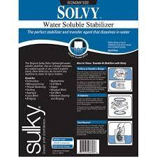 Sulky Solvy Water Soluble Stabilizer available in Canada at The Quilt Store