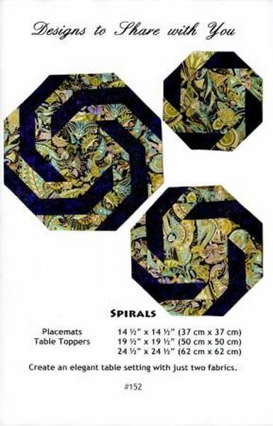 Spirals pattern available at The Quilt Store in Canada