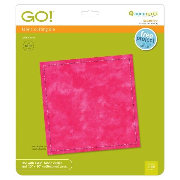 AccuQuilt Go! Fabric Cutting Die Square - 6 1/2""