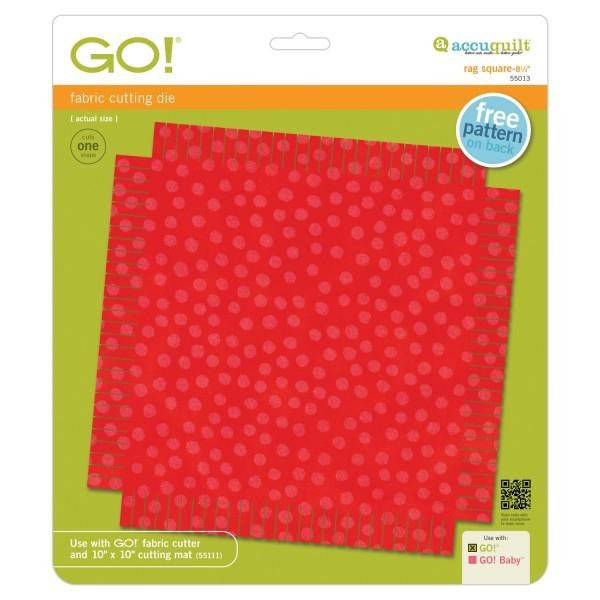 AccuQuilt Go! Fabric Cutting Die Rag Square - 8 1/2""