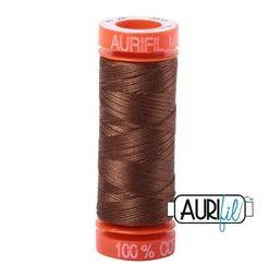 Aurifil 2372 Dark Antique Gold 50 wt 200m available in Canada at The Quilt Store