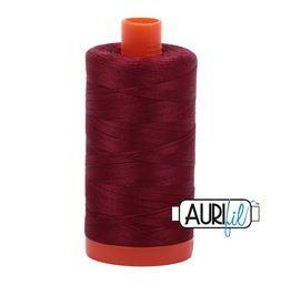 Aurifil 2460 Dark Carmine 50 wt available in Canada at The Quilt Store