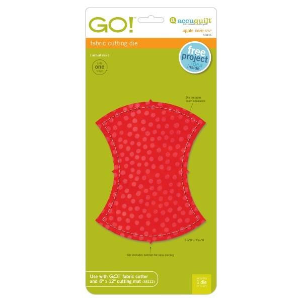 "AccuQuilt Go! Fabric Cutting Die Apple Core 6 1/4"" Fin"