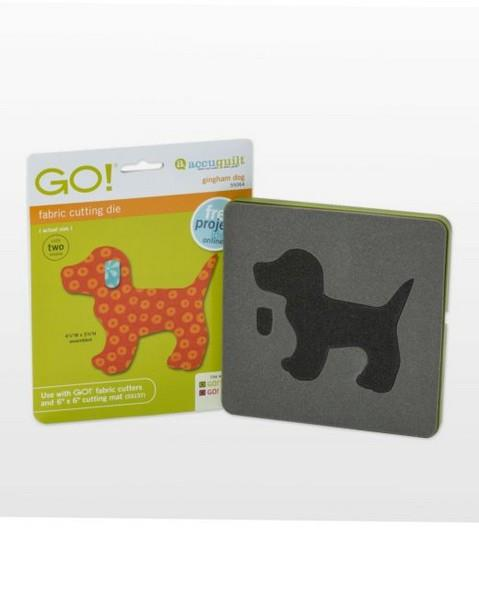 Accuquilt GO! Gingham Dog Die available in Canada at The Quilt Store