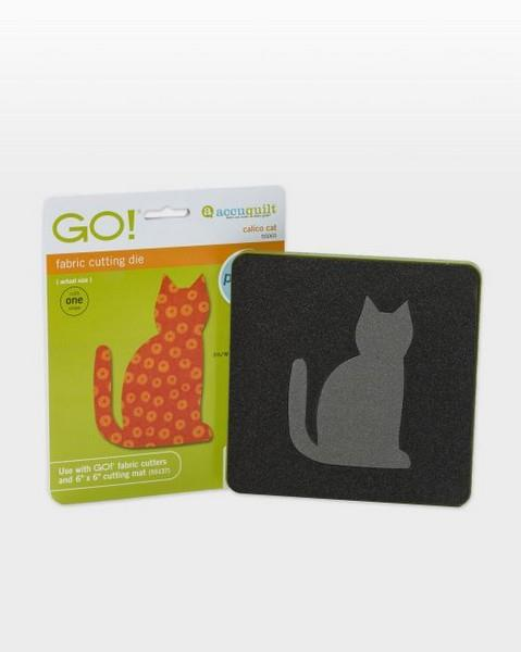 Accuquilt GO! calico Cat Die available in Canada at The Quilt Store