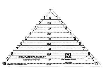 EZ Quilting Companion Angle Triangle Ruler