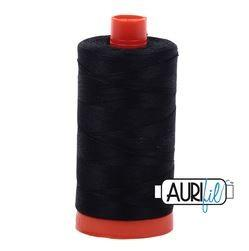 Aurifil 2692 Black 50 wt available at The Quilt Store