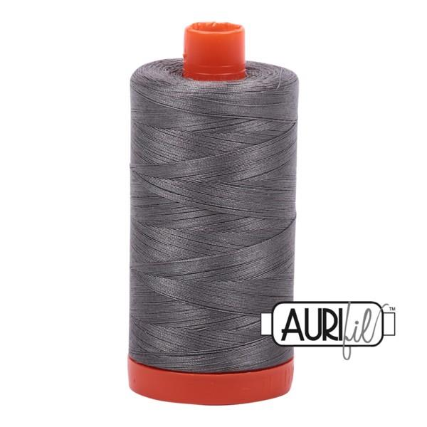 Aurifil 5004 Grey Smoke 50 wt, 1300m available at The Quilt Store in Canada