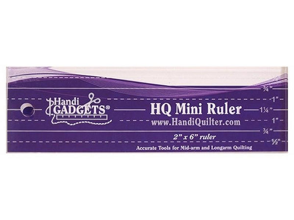 "HandiQuilter Mini 2"" x 6"" Ruler available in Canada at The Quilt Store"