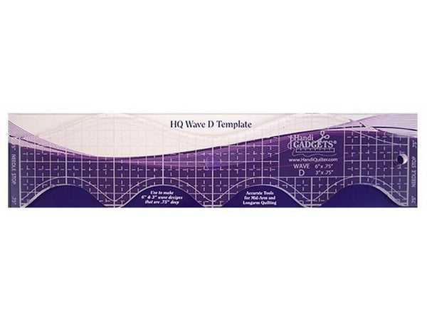HQ Wave D Ruler available in Canada at The Quilt Store