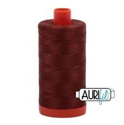 Aurifil 4012 Copper Brown 50 wt available in Canada at The Quilt Store