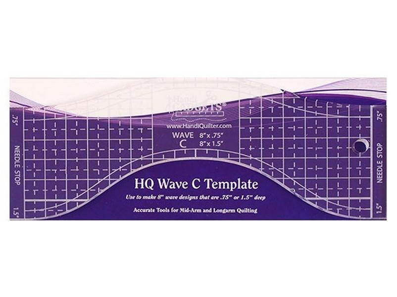 Handi Quilter Wave C Template available in Canada at The Quilt Store