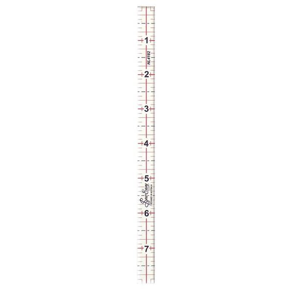 sew easy ruler 1/2 '' by 8