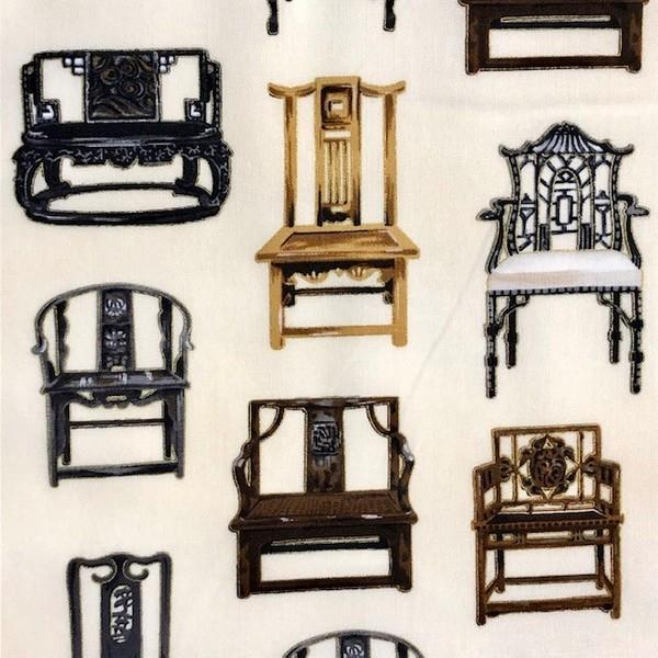 ROBERT KAUFMANN ASIAN TRADITIONS ANTIQUE CHAIRS METALLIC availalble in Canada at The Quilt STore