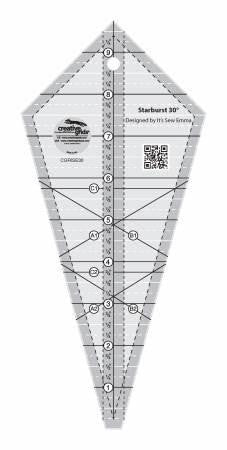 Creative Grids Starburst 30 Degree Triangle Ruler