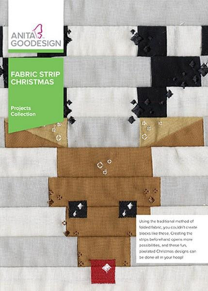 Anita Goodesign Fabric Strip Christmas