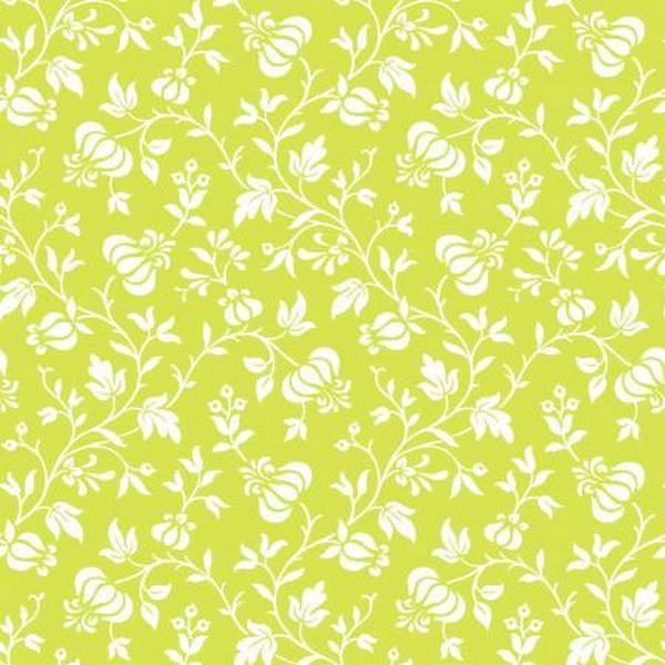 Modern Mixers III - Lime Green Vine Floral by Studio e Fabrics