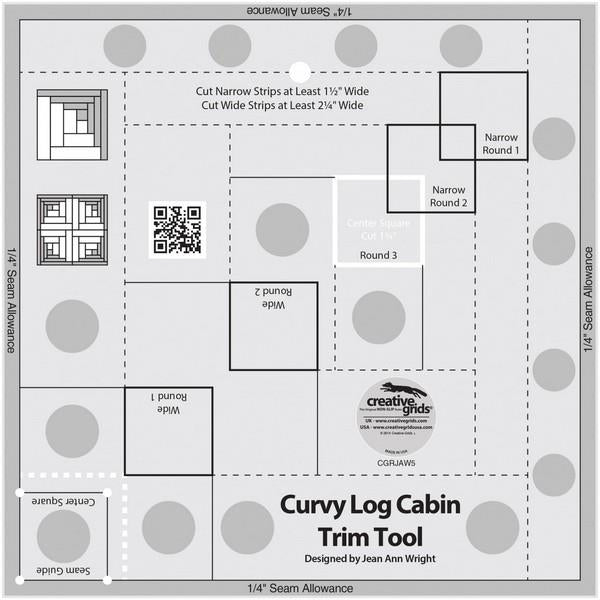 "Creative Grids 8"" Curvy Log Cabin Trim Tool at The Quilt Store"