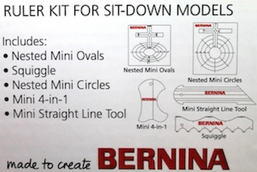 Bernina Ruler Kit for Sit-Down Models (BRKSD) available at The Quilt Store