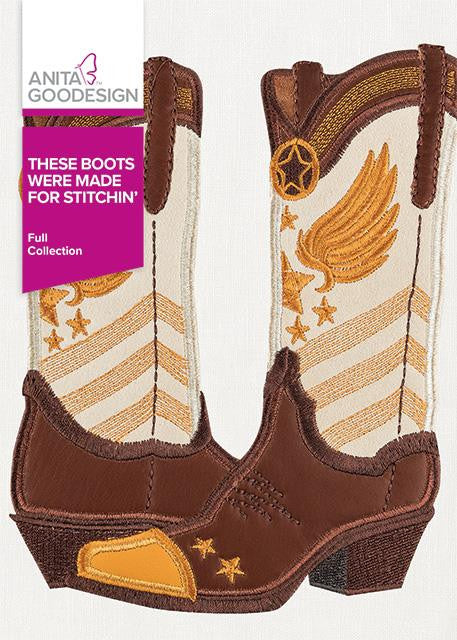 These Boots Were Made for Stitchin' by Anita Goodesign