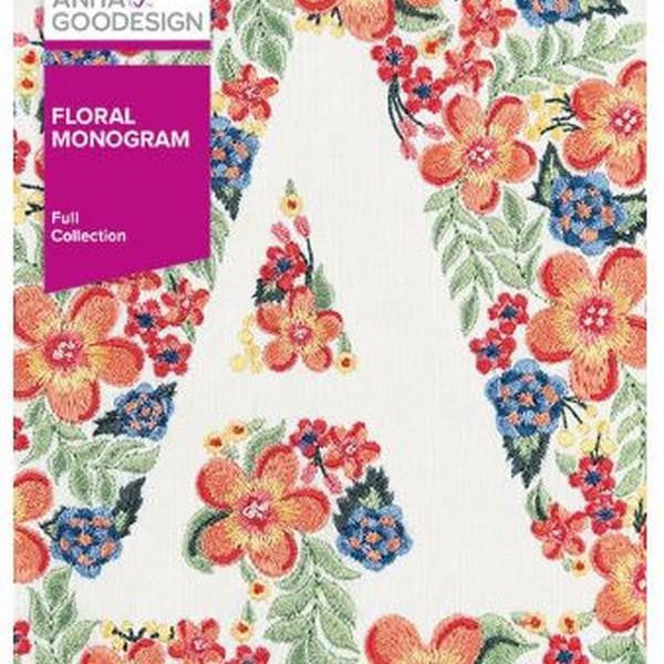 Anita Goodesign Floral Monogram at The Quilt Store