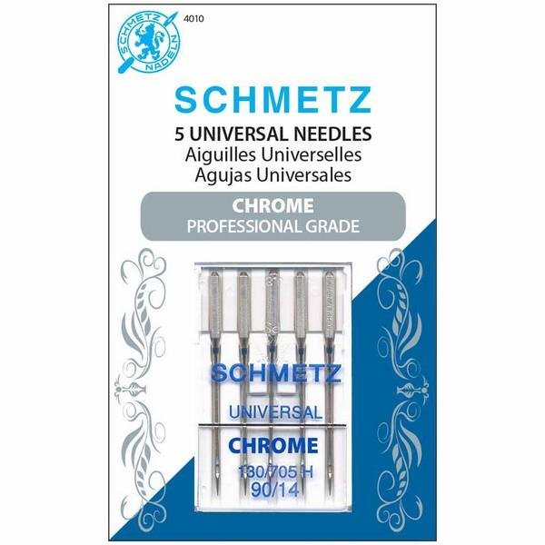 Schmetz Needles Chrome 90/14; 5 pack available in Canada at The Quilt Store