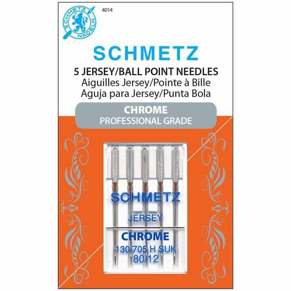 Schmetz Chrome Jersey/Ball Point Needles 80/12 available in Canada at The Quilt Store