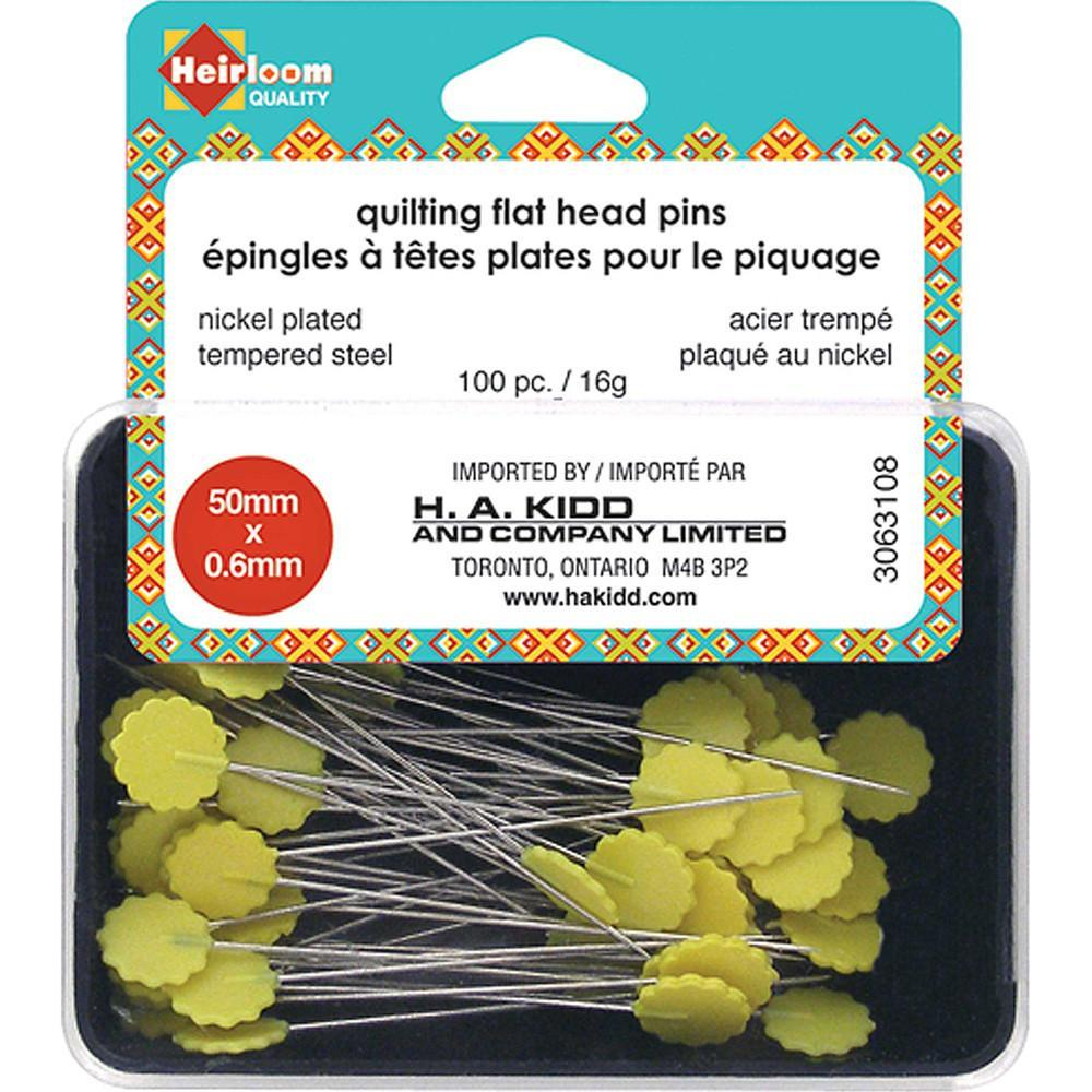 Heirloom Flat Head Pins available at The Quilt Store